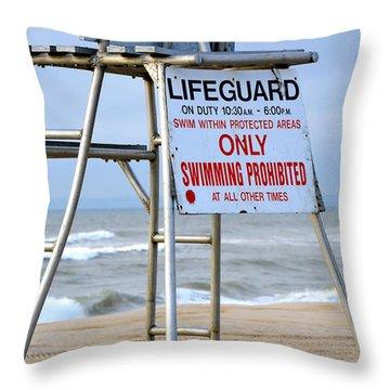Breezy Lifeguard Chair Throw Pillow