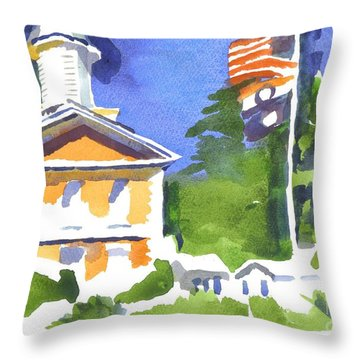 Breezy Morning At The Courthouse Throw Pillow by Kip DeVore