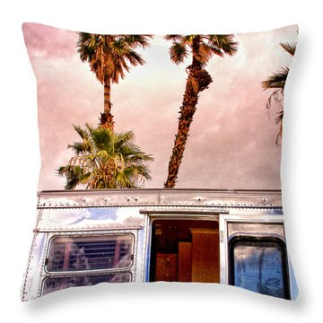 Breezy Palm Springs Throw Pillow by William Dey