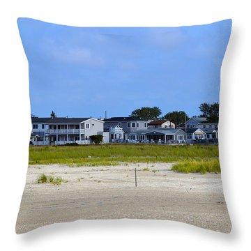 Breezy Point As Seen From Beach August 2012 Throw Pillow