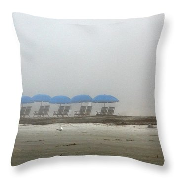 'brella Pattern Throw Pillow by Kay Lovingood