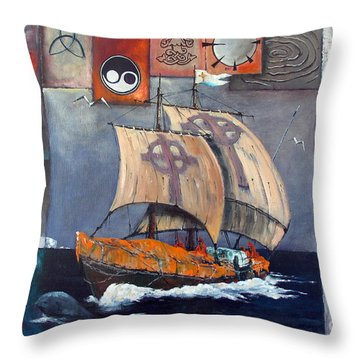 Brendan Voyage Throw Pillow