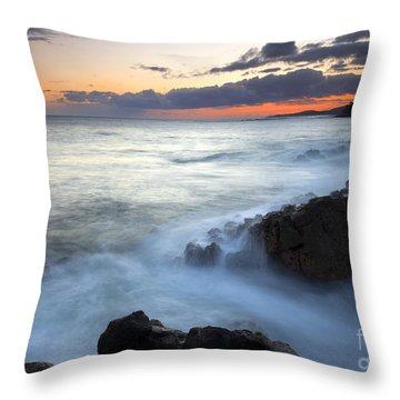 Brennecke Boil Throw Pillow by Mike  Dawson