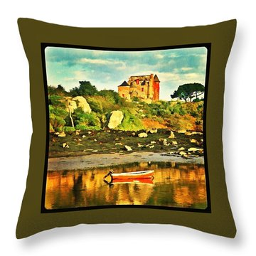 Bretagne Coast Throw Pillow by Hans Fotoboek