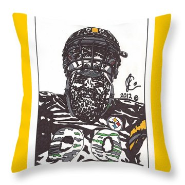 Brett Keisel 2 Throw Pillow