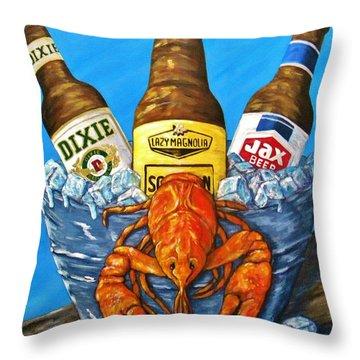 Crayfish Throw Pillows