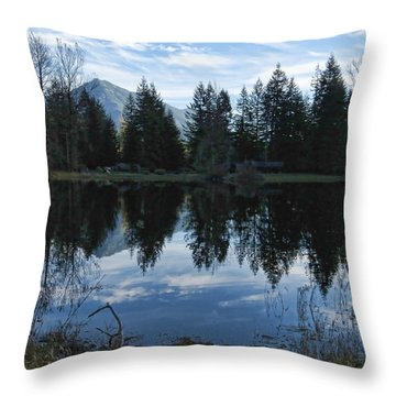 Brewster Lake North Bend Wa Throw Pillow