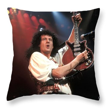 Brian May Throw Pillow