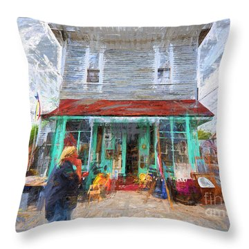 Throw Pillow featuring the photograph Bric-a-brac The Bronx Nyc by Jack Torcello