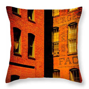 Brick And Glass Throw Pillow by Matthew Blum