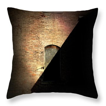 Brick And Shadow Throw Pillow by Cynthia Lassiter