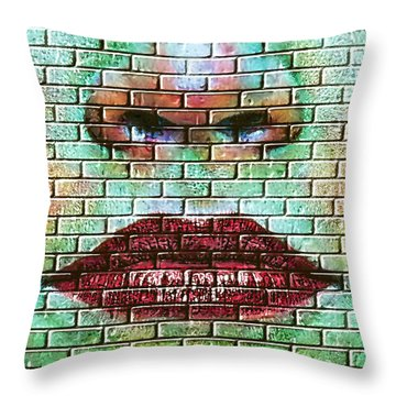Brick Kisses Throw Pillow