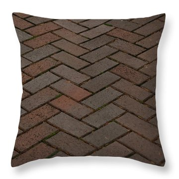 Brick Pattern Throw Pillow by Tikvah's Hope