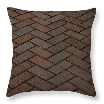 Brick Pattern Throw Pillow