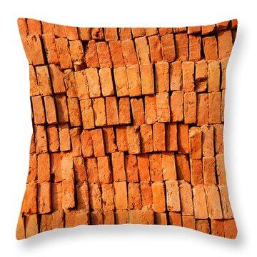 Brick Stack Throw Pillow