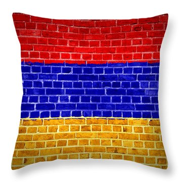Brick Wall Armenia Throw Pillow