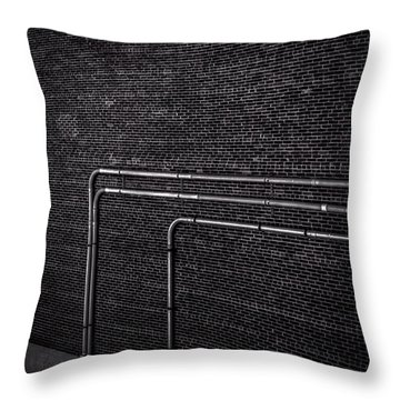 Brick Wall Throw Pillow by Bob Orsillo