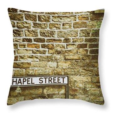 Brick Wall Throw Pillow by Amanda Elwell