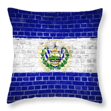 Brick Wall El Salvador Throw Pillow by Antony McAulay