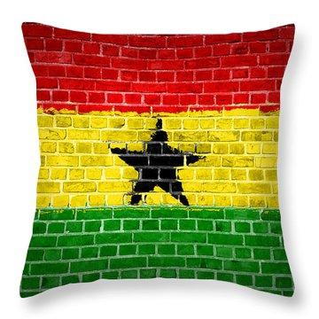 Brick Wall Ghana Throw Pillow