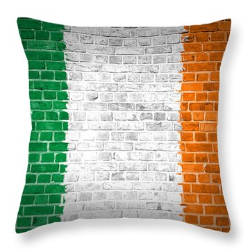 Brick Wall Ireland Throw Pillow by Antony McAulay