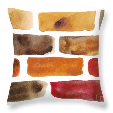 Brick Wall Throw Pillow by Kerstin Ivarsson