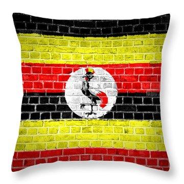 Brick Wall Uganda Throw Pillow