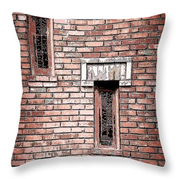 Brick Work Throw Pillow by Melanie Lankford Photography