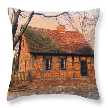 Bricks And Timbers Throw Pillow