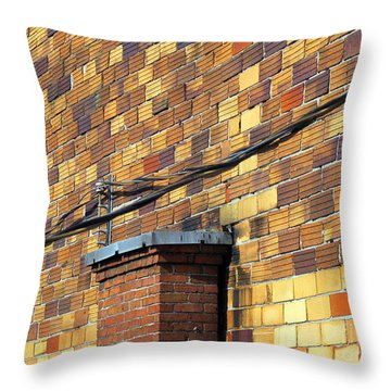 Bricks And Wires Throw Pillow