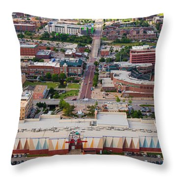 Bricktown Ballpark A Throw Pillow by Cooper Ross