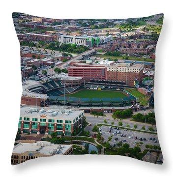 Bricktown Ballpark Throw Pillow by Cooper Ross