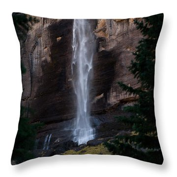 Throw Pillow featuring the photograph Bridal Falls by Steven Reed