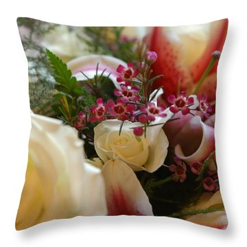 Throw Pillow featuring the photograph Bridal Flowers by Donald Williams
