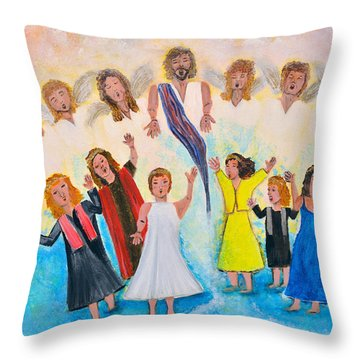 Throw Pillow featuring the painting Bridal Invitation by Cassie Sears