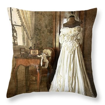 Bridal Trousseau Throw Pillow by William Beuther