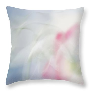 Throw Pillow featuring the photograph Bridal Veil by Annie Snel