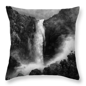 Bridalveil Falls Throw Pillow by Cat Connor