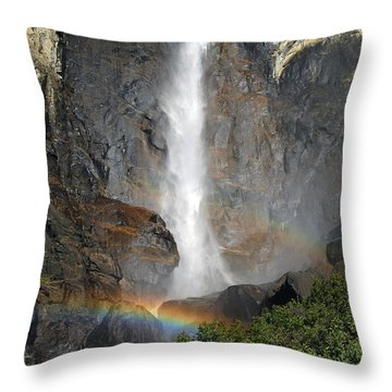 Bridalveil Falls No Sky Throw Pillow