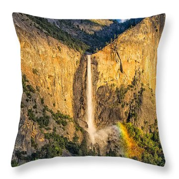 Bridalveil Falls Throw Pillow by Patricia Davidson