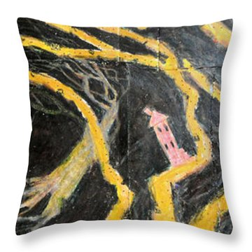 Bride In Blood Shoes - Right Throw Pillow by Nancy Mauerman