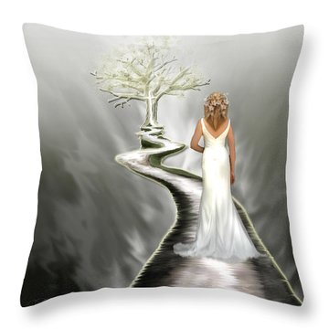 Bride Of Christ Throw Pillow