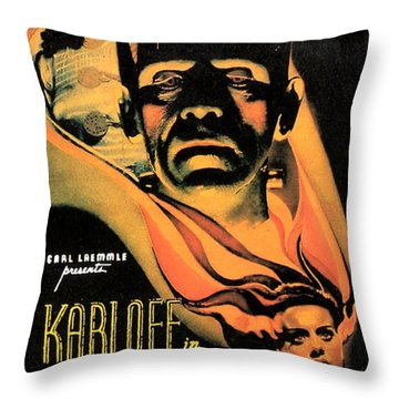 Bride Of Frankenstein Throw Pillow by Studio Release