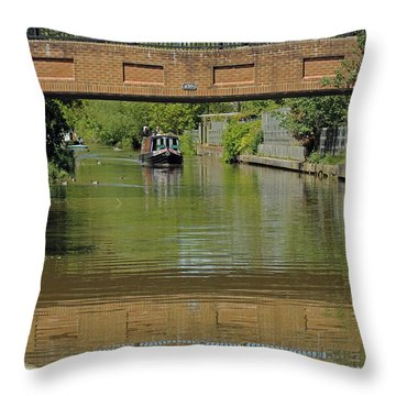 Bridge 238b Oxford Canal Throw Pillow