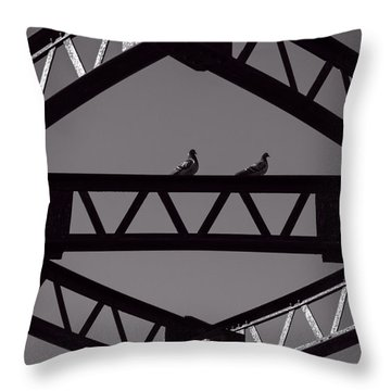 Bridge Abstract Throw Pillow
