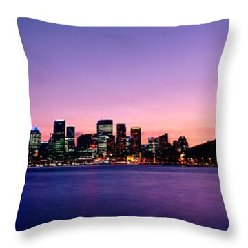 Bridge Across The Sea, Sydney Opera Throw Pillow by Panoramic Images