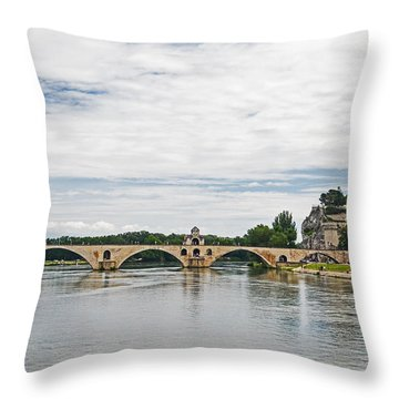Bridge At Avignon Throw Pillow