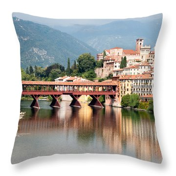 Bridge At Bassano Del Grappa Throw Pillow by William Beuther