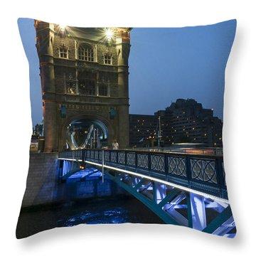 Bridge At Night Throw Pillow by Svetlana Sewell