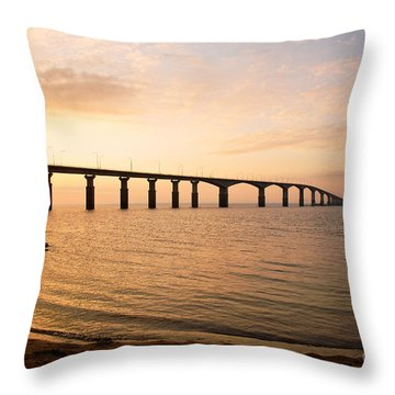 Bridge At Sunrise Throw Pillow